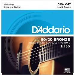 D'ADDARIO EJ36 - струни за 12-струнна китара