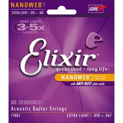 ELIXIR 11002 EXTRA LIGHT ACOUSTIC BRONZE 10-47