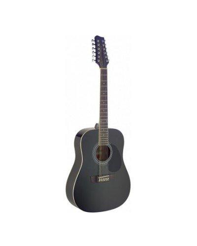 SA40D/12-BK Stagg Черна 12-струнна акустична китара