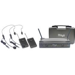 STAGG - SUW50 HH-EG-UHF - Сет от 2 безжични микрофона за глава