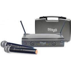 STAGG - SUW50 MM-EG-EU-863.8 - 864.5 - wireles 2 vocal -  2 безжични вокални микрофона комплект