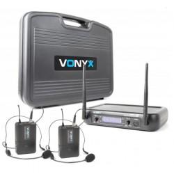 WM73H - Сет с два безжични микрофона за глава