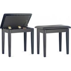 PBF23 BKM SBK-BLACK BENCH MAT+BK VINYLTOP стол пиано