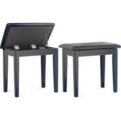 PBF23 BKP SBK - BLACK BENCH HIGHGLOSS+TOPVINYL Стол за пиано
