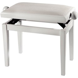 GEWA PIANO BENCH WHITE HIGHGLOSS WHITE SEAT