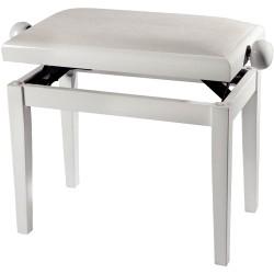 GEWA PIANO BENCH WHITE HIGHGLOSS WHITE SEAT