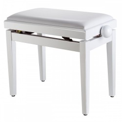 Sondsation Стол за пиано бял SBH-100 P SWH