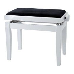 GEWA PIANO BENCH WHITE HIGHGLOSS  BLACK COVER