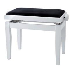GEWA PIANO BENCH WHITE HIGHGLOSS  BLACK COVER