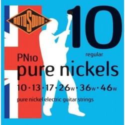 Струни електрическа китара Rotosound - PN10 Pure Nickels
