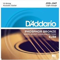 Струни за 12 струнна китара  - D'Addario EJ38