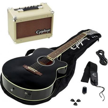 Електроакустична китара с усилвател Epiphone PR-4E  PCK-EBONY