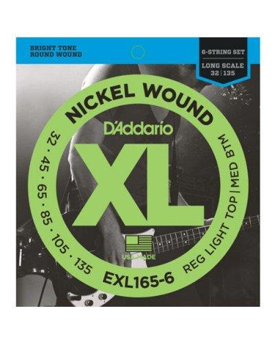 D'Addario EXL165-6 - струни бас китара