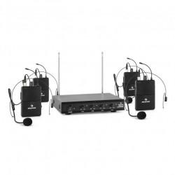 Auna VHF-2-H - Сет от 4 безжични микрофона за глава